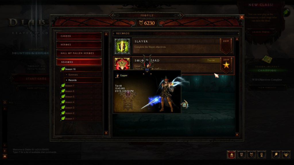 Diablo III Season 16 Record