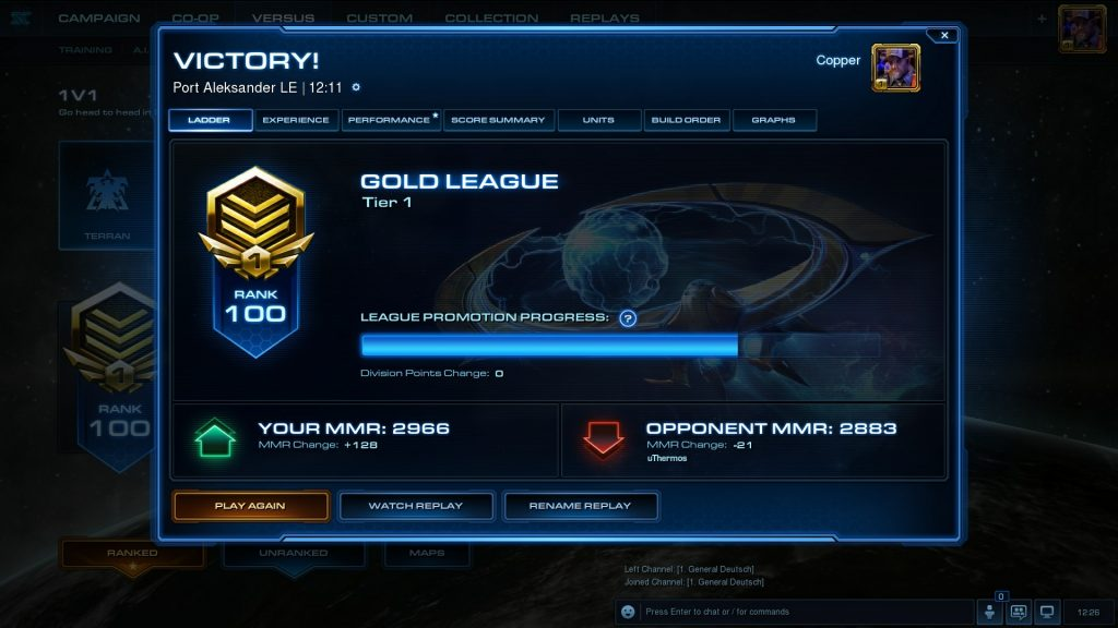 Starcraft 2 Gold League