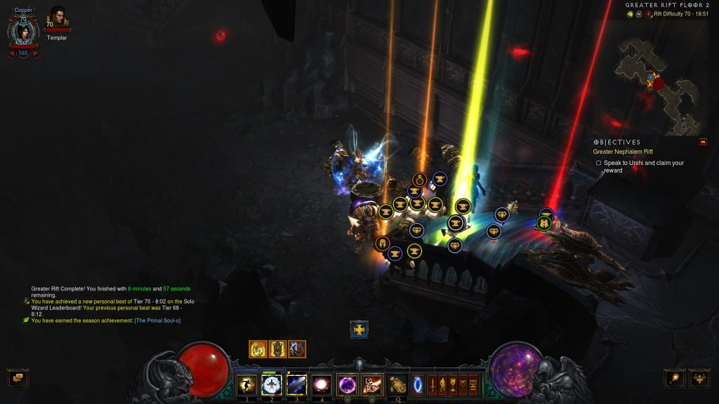 Diablo III Season 17 Hardcore Greater Rift Level 70