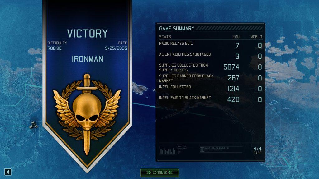 XCOM Campaign Stats
